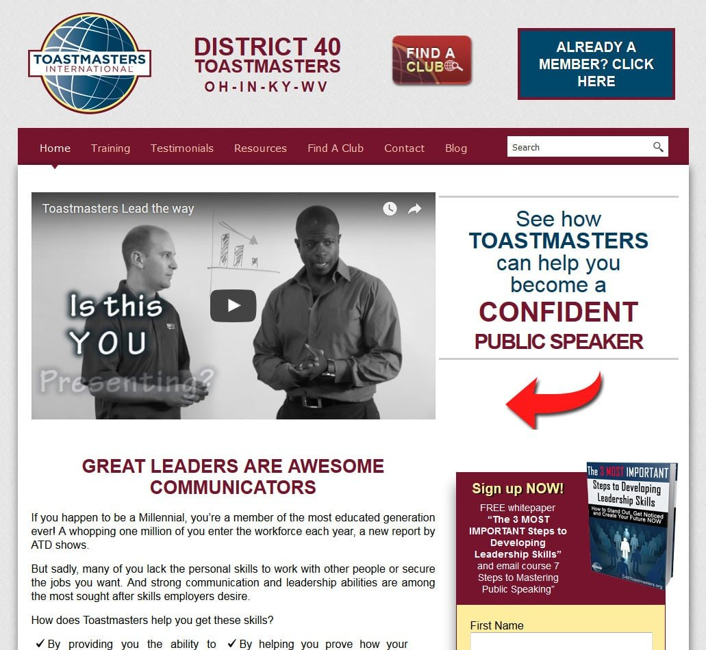 District 40 Toastmasters